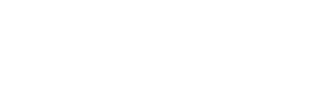 +1.500 Clientes