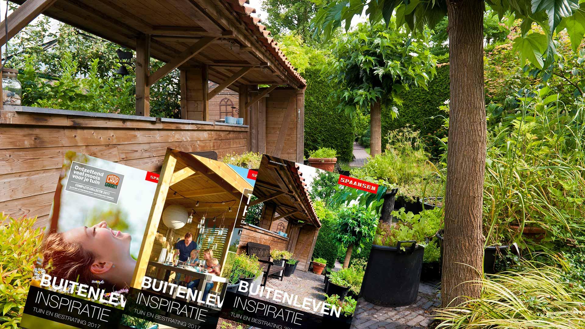 De nieuwe brochures van Spaansen Tuin en Bestrating
