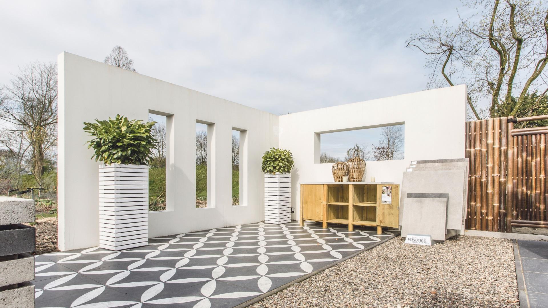 De Prefab Garden Wall van Spaansen Tuin en Bestrating te zien bij Spaansen in Zuidoostbeemster