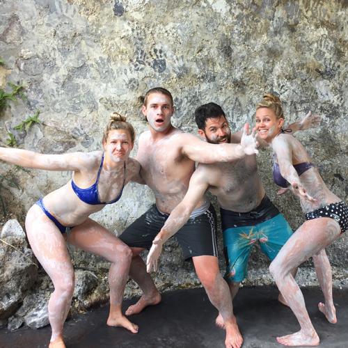 Mud baths & volcano St Lucia Caribbean