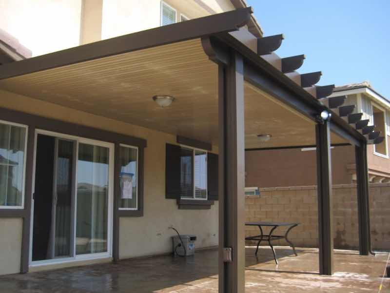 Patio cover installed in Fontana CA