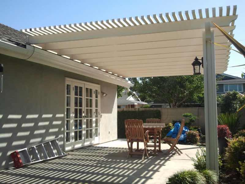 Fontana CA home with a new patio cover installed.