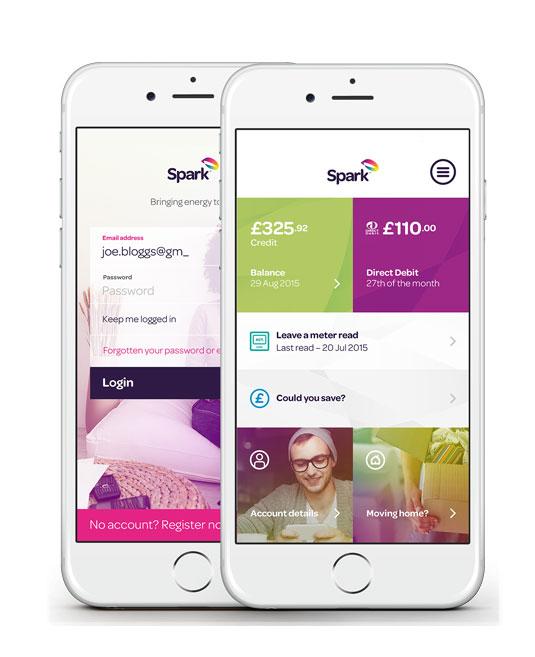 Spark Energy iPhone Screens