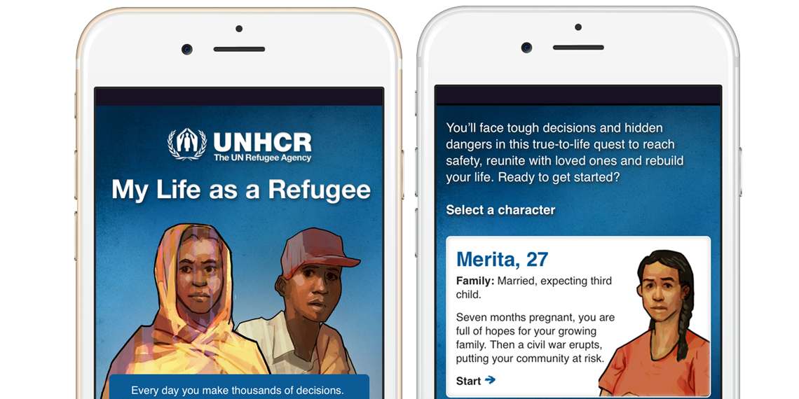 Charity Mobile App UNHCR