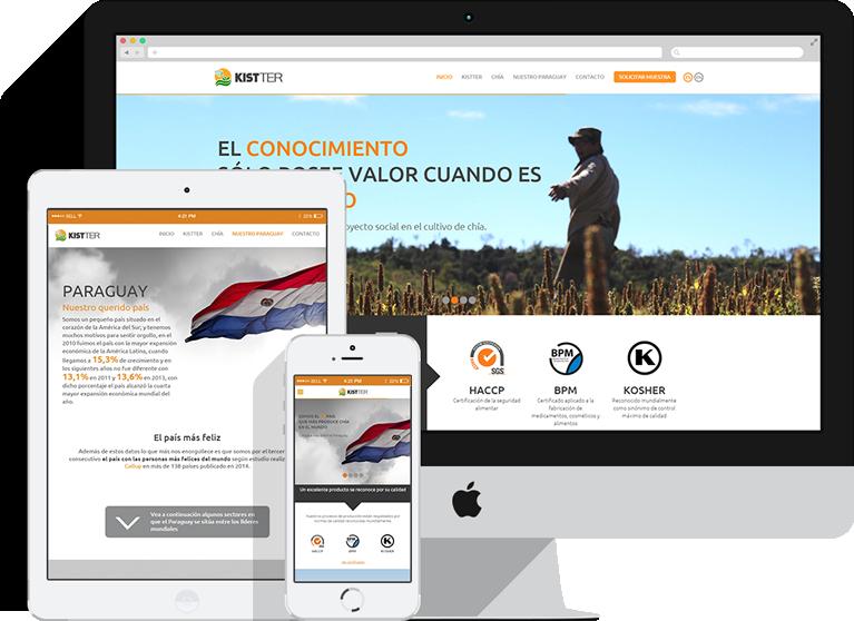 sitio web responsivo agrokistter
