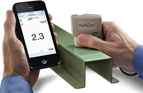 PosiTector SmartLink and app in use