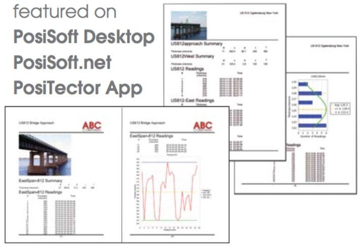 featured on PosiSoft Desktop, PosiSoft.net, PosiTector App