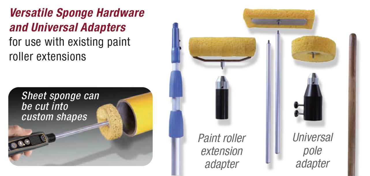 Versatile Sponge Hardware and Universal Adapters