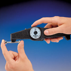 The PosiTest easily measures small parts of almost any shape
