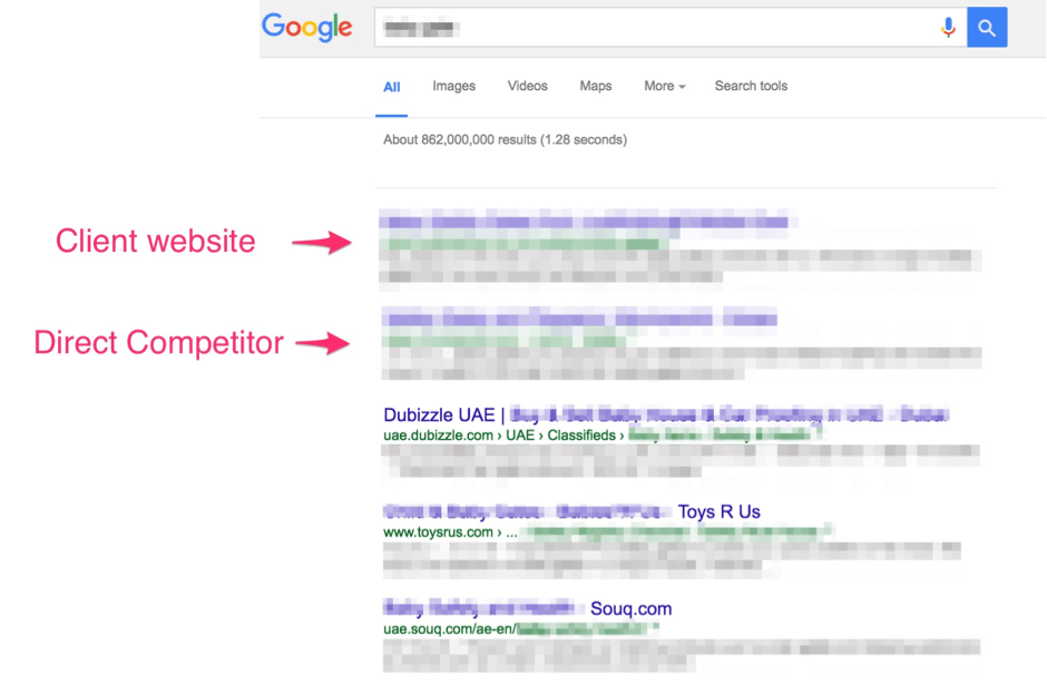 SEO on page one