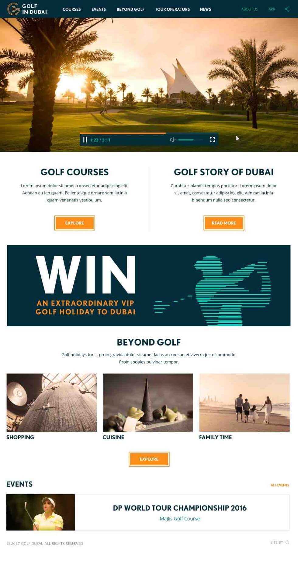 Golf in Dubai Home Page
