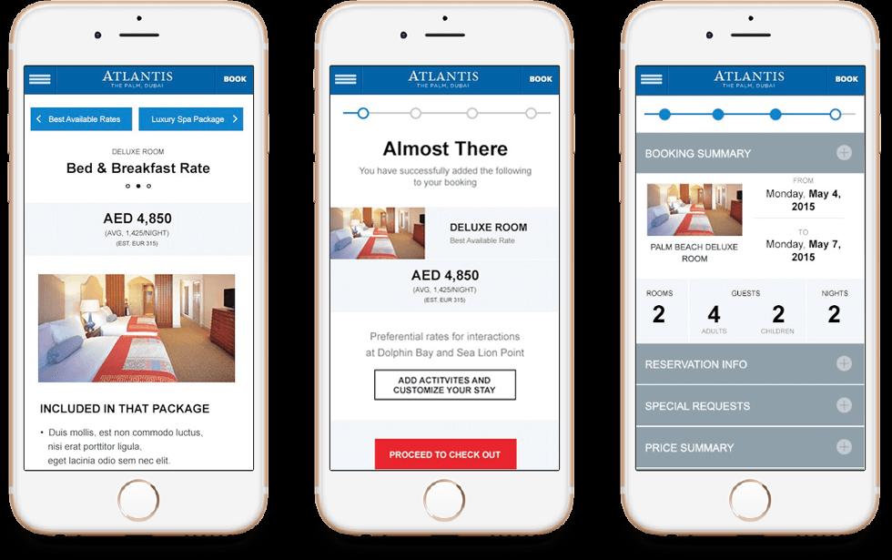 Atlantis Hotel Mobile Booking Engine