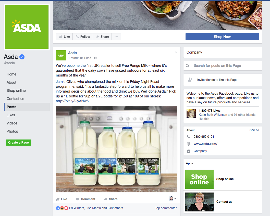 asda denies deleting vegan comments in range milk row asda in hot water vegans