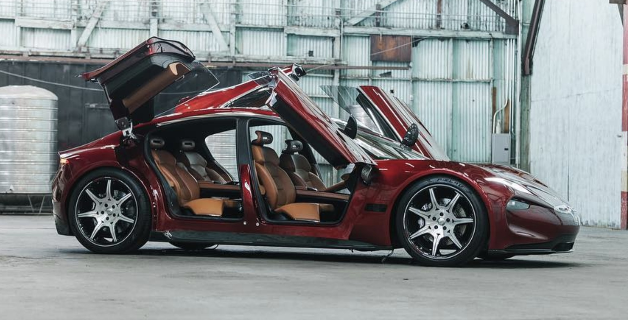 Fisker unveils Emotion Electric sedan with butterfly doors