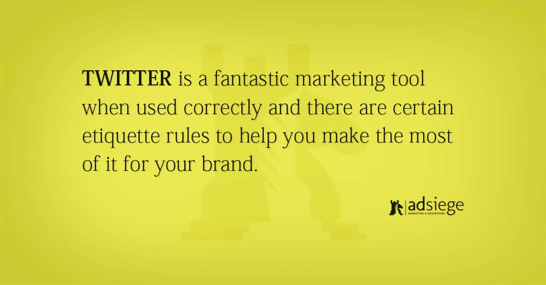 Twitter Marketing Etiquette for Small Business Owners