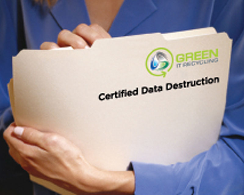 Green IT Recycling: Certified Data Destruction