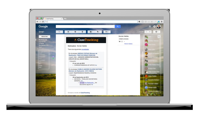 CaseTracking - Screenshot Notificaciones y Alertas