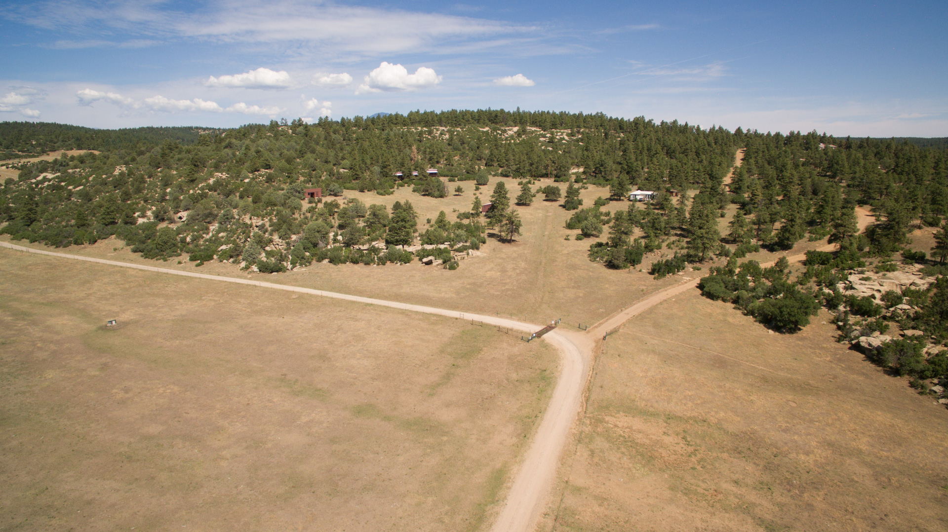 Base of the ridge where the property is located. Road to the right leads directly to the property