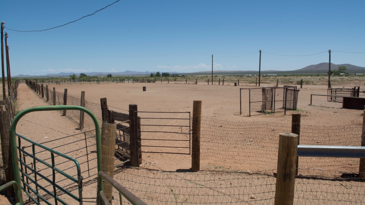 Rodeo arena that is located at the intersection of Arena Road & State Route 338