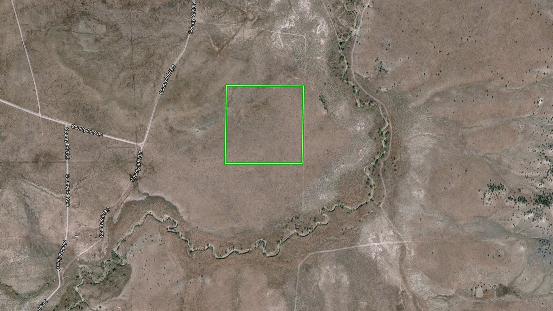 40 Acres with the Apishapa River along the East and South of the property