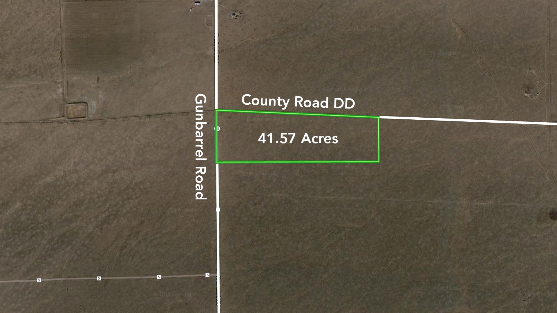 ‍41.57 Acres at Corner of 2 County Roads