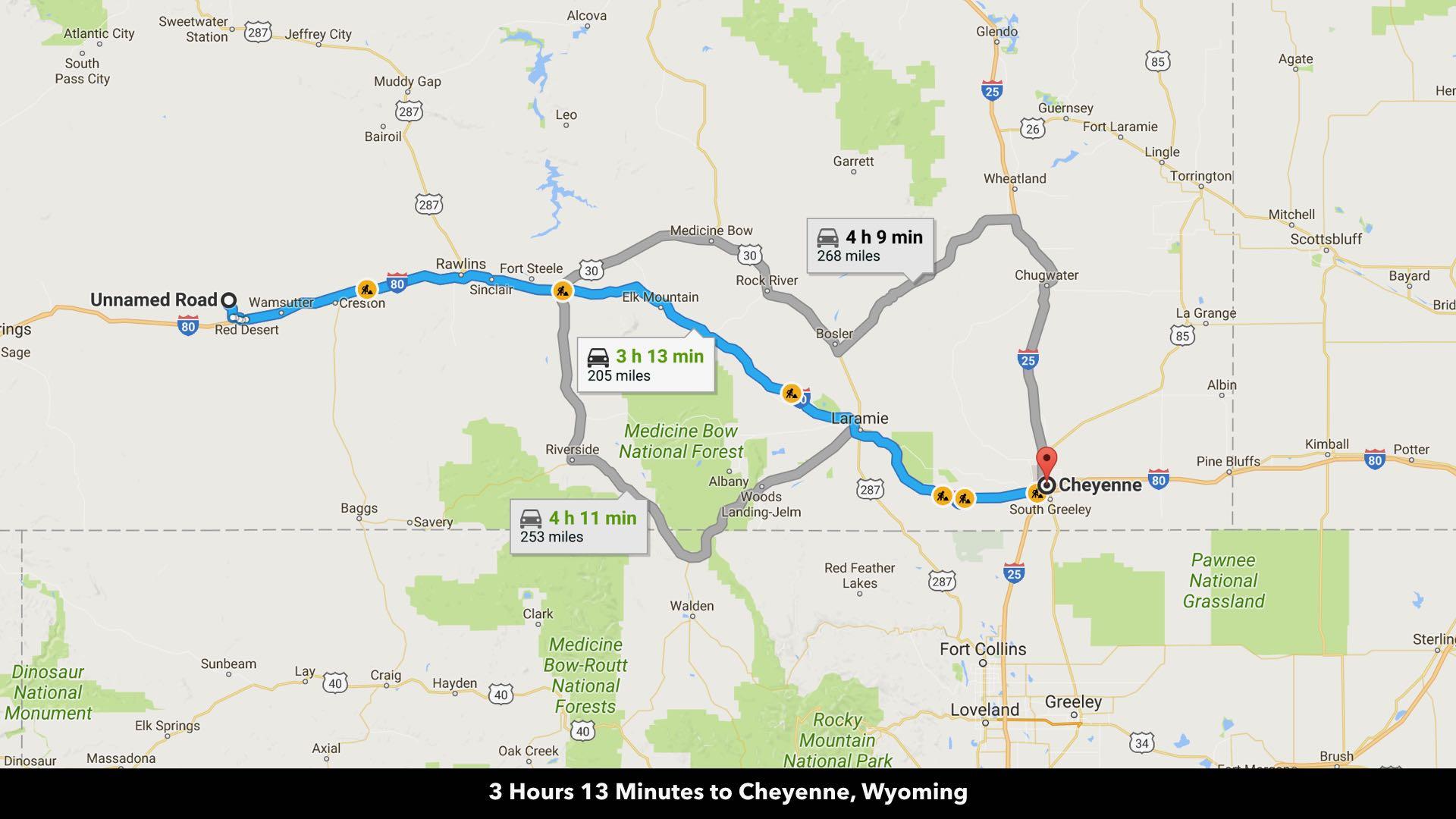 Map Of Cheyenne Wy Binghamton University Map - Road map of wyoming