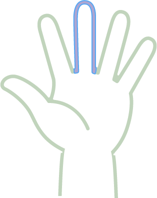 Hand 3rd depth