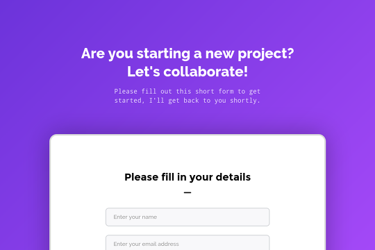 Multi-Step Form - Webflow