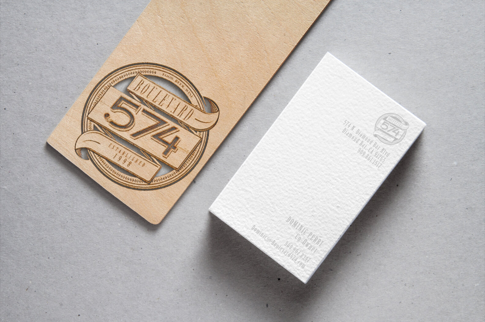 Boulevard 574 branding by chevail alexander the primary logo created was used across all updated assets for the cafe including business cards letterheads windows coasters and beer flight holders magicingreecefo Gallery