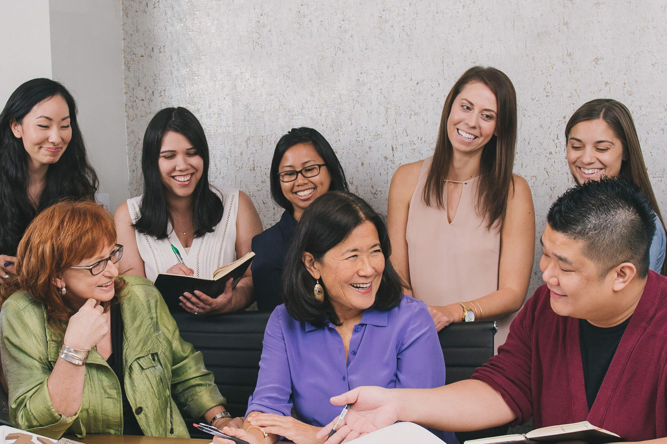 Ann Matsunami and Pacific Asian Design Group Staff