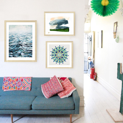 Art Crate Curation Eclectic South West Home