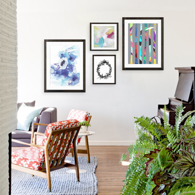 Art Crate Curation Living Room Bright