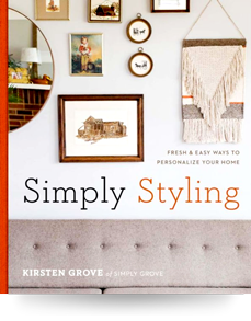 Art Crate Featured in Simply Styling Kristen Grove