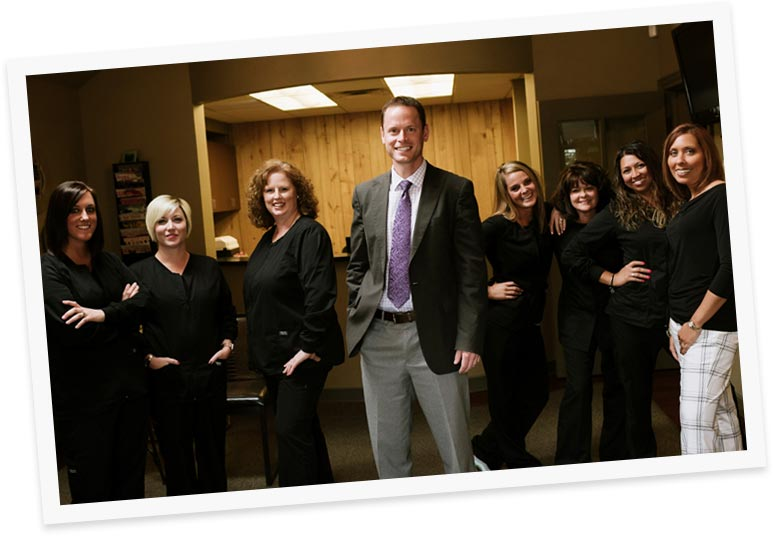 Photo of Dr. James Blank and the Advanced Dentistry team