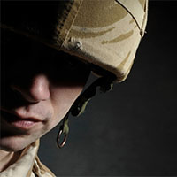american solider experiencing PTSD