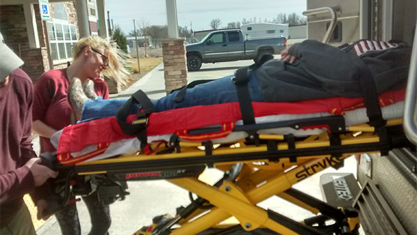 river students in EMT training
