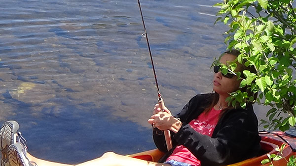 RIVER student fishing during recreational therapy course
