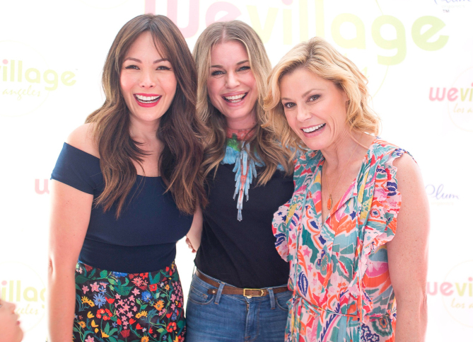 Rebecca Romijn, Julie Bowen at WeVillage Los Angeles Grand opening