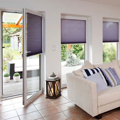 perfect fit blinds on door and windows