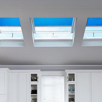 light blue velux blinds
