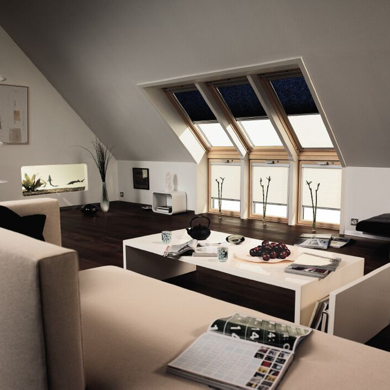 navy velux roof blinds