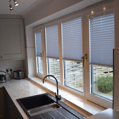 perfect fit venetian blinds in kitchen