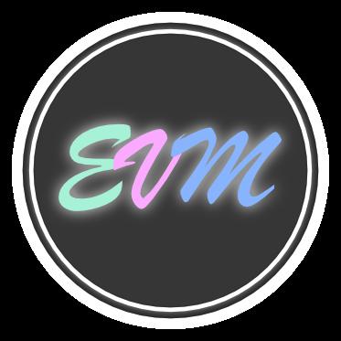 evm makeup logo