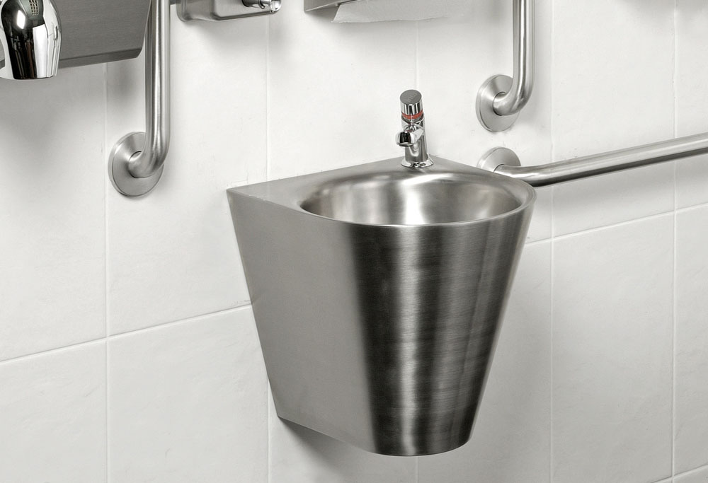 Armourlight Stainless Steel Basin & Tamper Resistant Push Tap