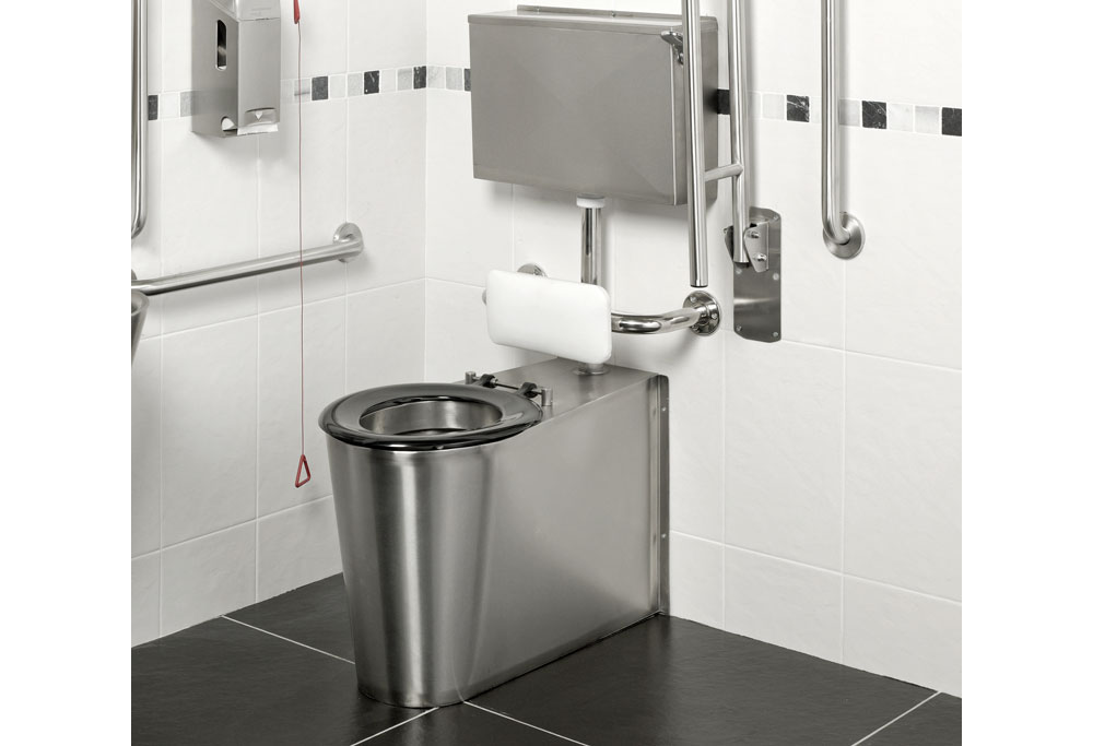 Armourlight Anti Vandal Stainless Steel Disabled Toilet