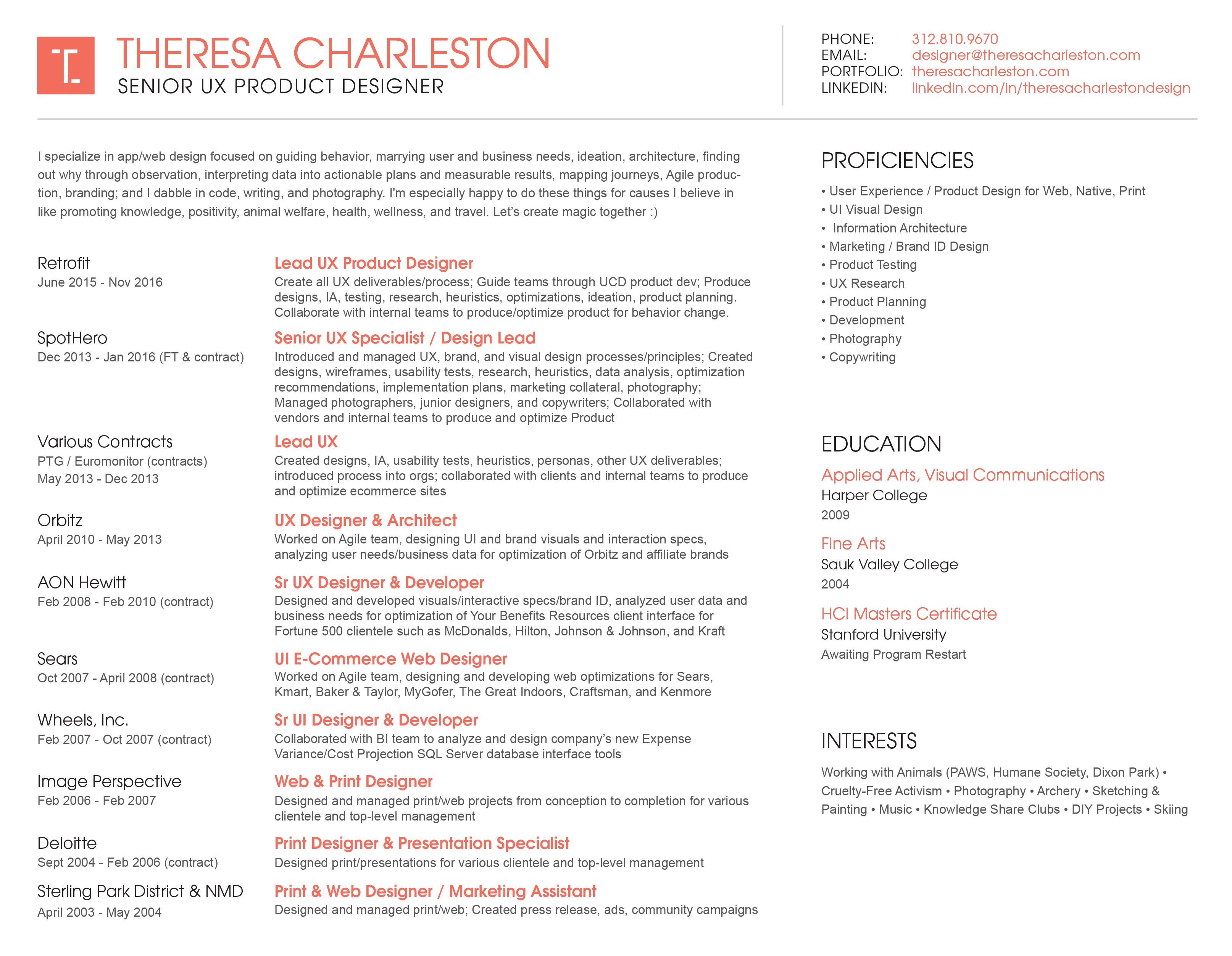 T Charleston Resume