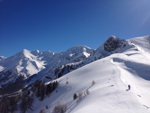 snowshoeing in the Queyras, France