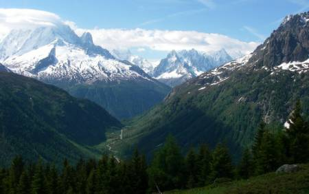 Mont Blanc from the alpage de Loriaz