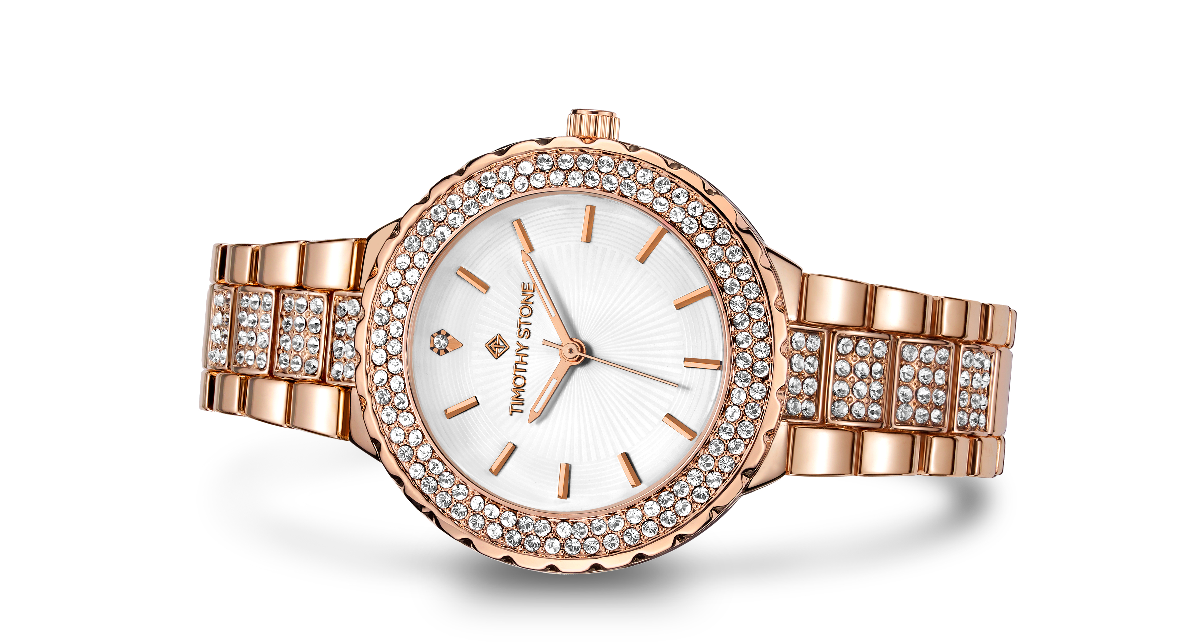 Timothy Stone GALA STAINLESS ROSE GOLD-TONE WATCH