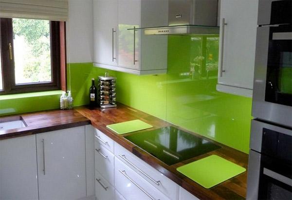 stunning green glass backsplash ideas - home design ideas
